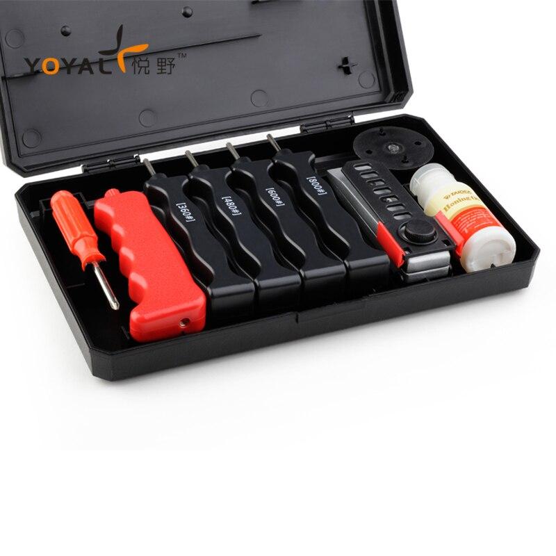 YOYAL pro точилка для ножей с алмазным покрытием Открытый ножи Заточка системы 4 камни 1 компл. professional шлифовальный инструмент lansky Рыбалка