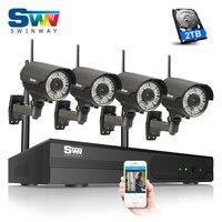 Plug And Play Wireless CCTV System 1080P IP Camera WIFI HD IR Zoom 2 8mm 12mm