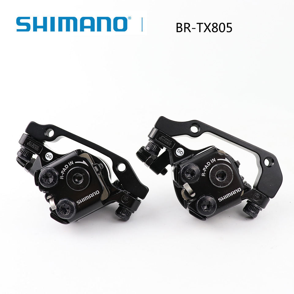 Shimano Tourney TX805 Disc Brake Caliper with Resin Pads Front Rear MTB Brake Mechanical disc brake upgrade for m375