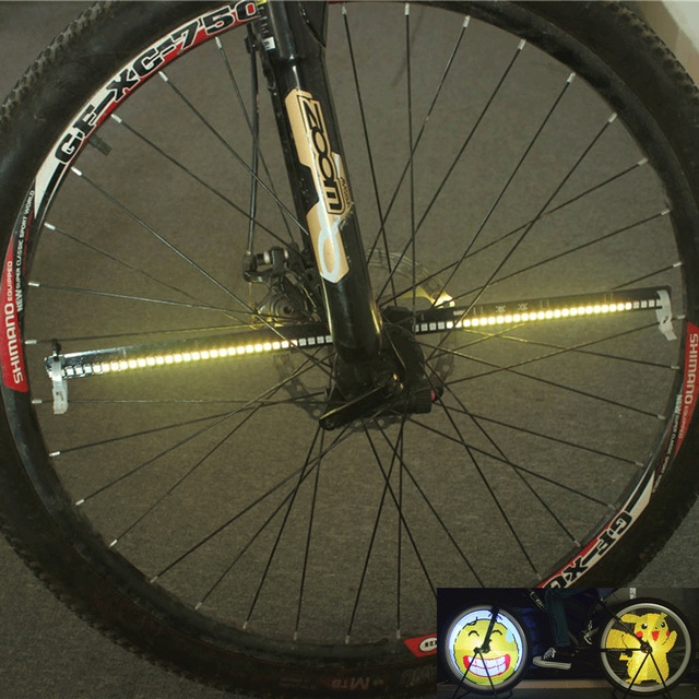 LIXADA 128 RGB LED Bike Waterproof Wheel Antishock with USB Cable Spoke Light