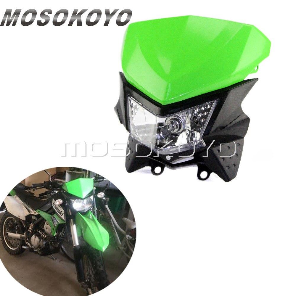 headlight kx kawasaki head light dirt bike klx110 klx140 motocross