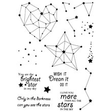 WISH IT DREAM IT DO IT STARS Scrapbook DIY photo cards account rubber stamp clear stamp transparent stamp Handmade card stamp mini clear stamp scrapbook diy photo cards rubber stamp seal stamp forever family transparent silicone transparent stamp
