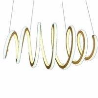Современные Нерегулярные Круг растягивается алюминиевый блеск два цвет патч источник света ресторан гостиной люстра