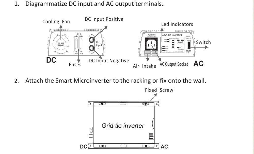 energia solar na grade tie micro inversor