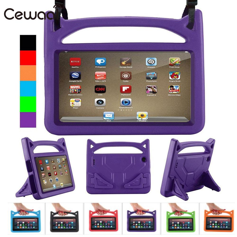 Cewaal Shockproof Case EVA Rubber For Amazon Kindle case Fire 7 Fire 2015/2017 7th Gen Kid Safe ...