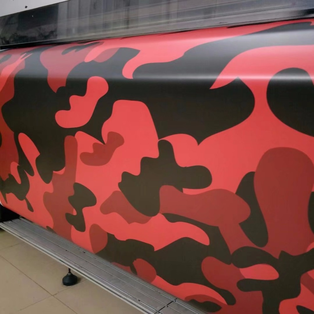 Black Red Camouflage Vinyl Wrap Camouflage Film Wrapping Vehicle Car Covers Wraps free shipping pro tint bondo magnetic black squeegee wrap magnet holder vehicle applicator car vinyl film sticker wraps installing tools