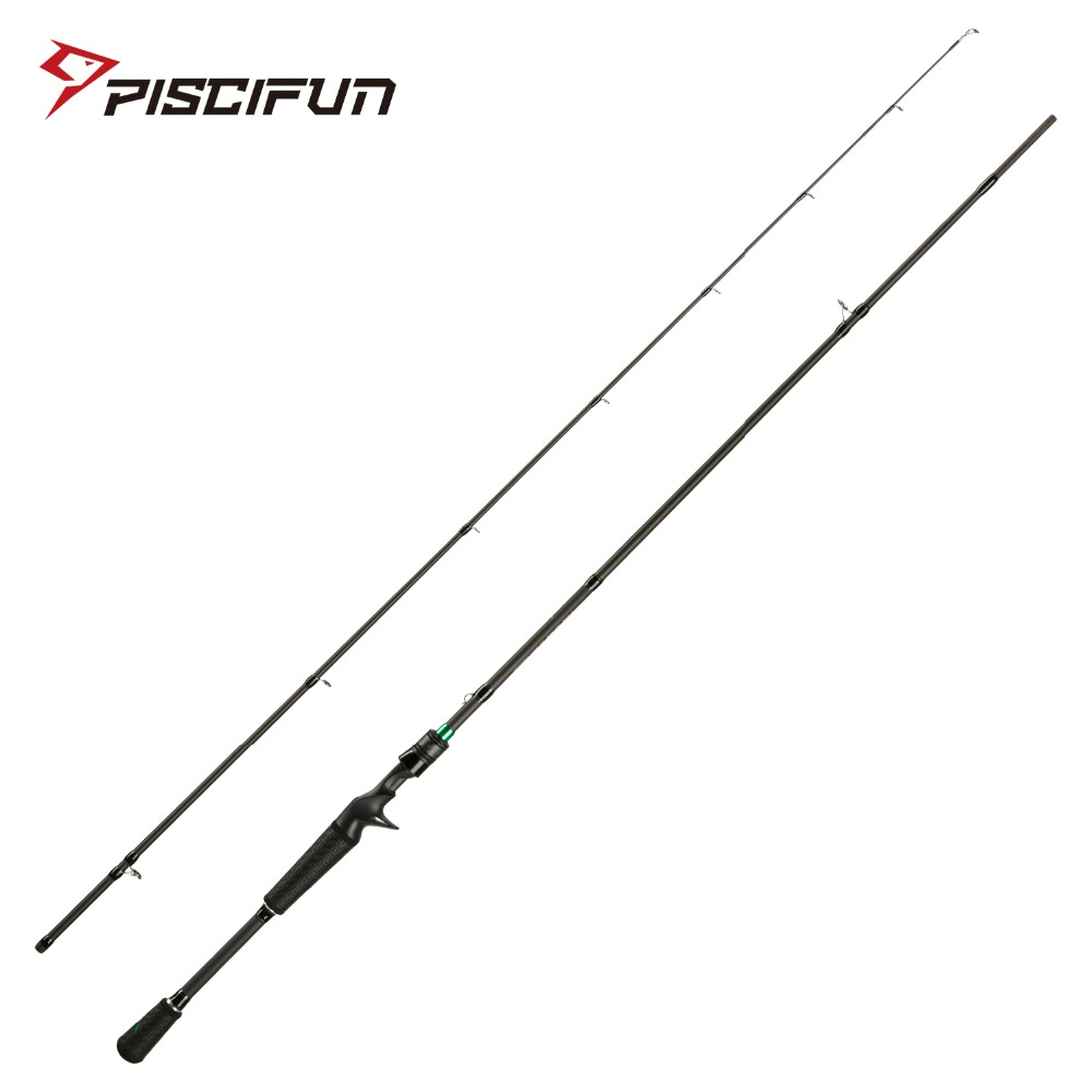 Piscifun Serpent Casting Rod Two Piece Baitcasting Rod IM7 Toray Carbon Fiber Fuji Guides 2M 2.1M M MH Baitcaster Fishing Rod