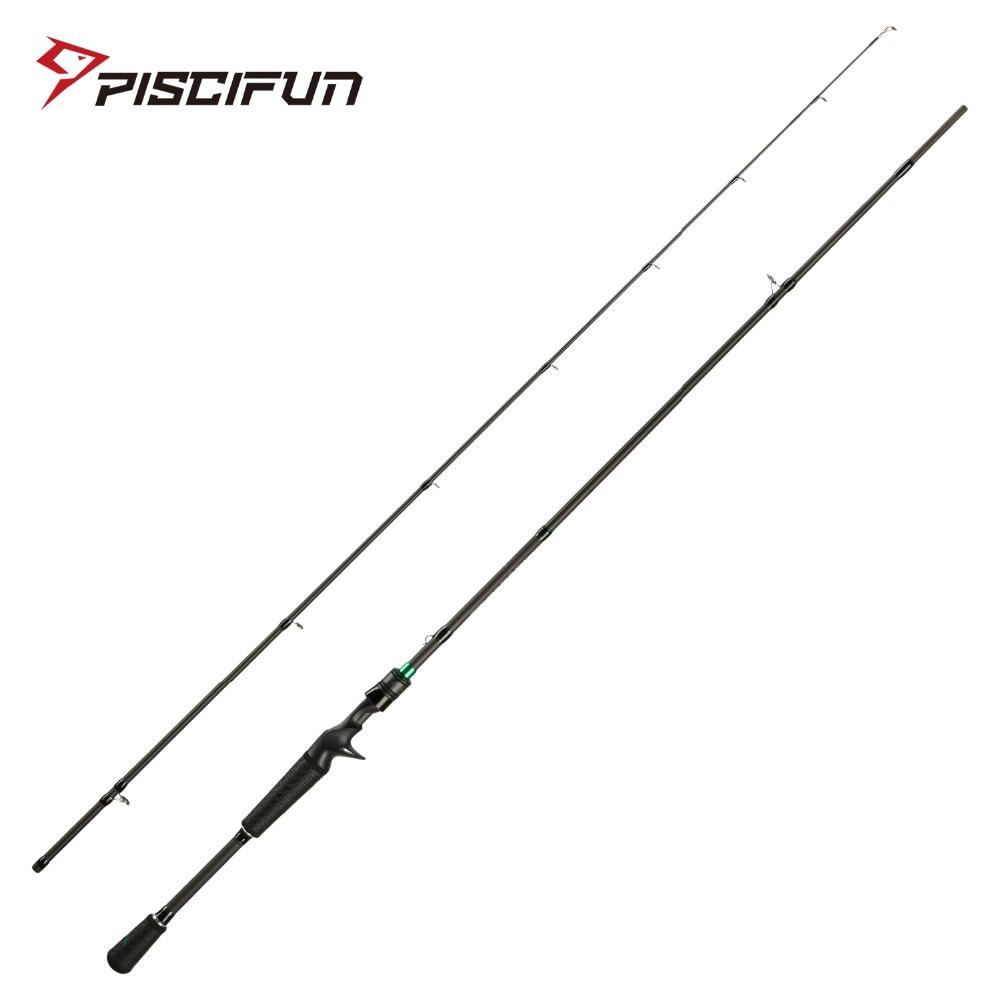 Piscifun Serpent Casting Rod Two Piece Baitcasting Rod IM7 Toray Carbon Fiber Fuji Guides 2M 2