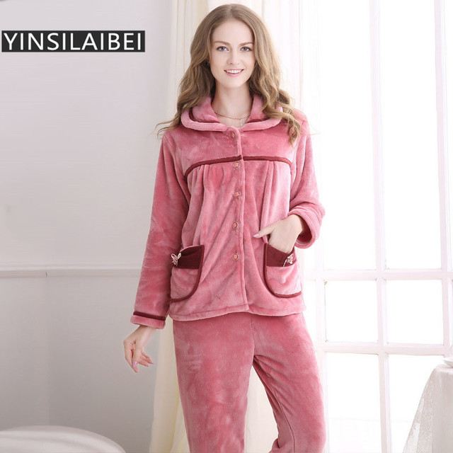 newest 960ad 71dec US $36.81 |2016 Winter Pyjamas Frauen Pijama Pyjama Femme Korallen Fleece  Pyjamas Pyjama Sets Pyjama Sets für Damen SY130 #10 in 2016 Winter Pyjamas  ...