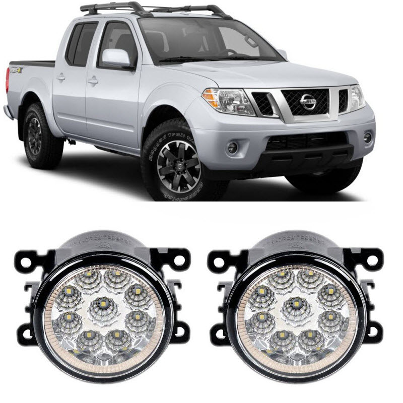 Car Styling For Nissan Frontier 2005-2015 9-Pieces Led Fog Lights H11 H8 12V 55W Fog Head Lamp for opel astra h gtc 2005 15 h11 wiring harness sockets wire connector switch 2 fog lights drl front bumper 5d lens led lamp