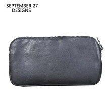 Men's Wallet Genuine Leather Clutch Wallets Women Phone Purs