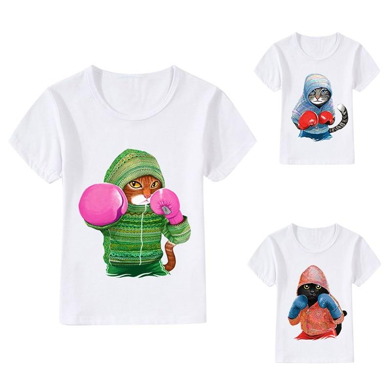 T-Shirts Boxer Tops Short-Sleeve Print Girl Baby Cartoon Children Summer New Boy 3-8Y