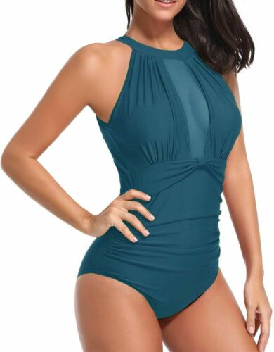 4 Colors Fashion Women Solid Sleeveless Sexy Summer Holiday  Padded Bikini Bathing Swimwear One Piece Swimsuits Monokini Beach