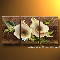 100 Handpainted 3 Panel Modern Decorative Painting Flower Oil Painting On Canvas Wall Art For Living