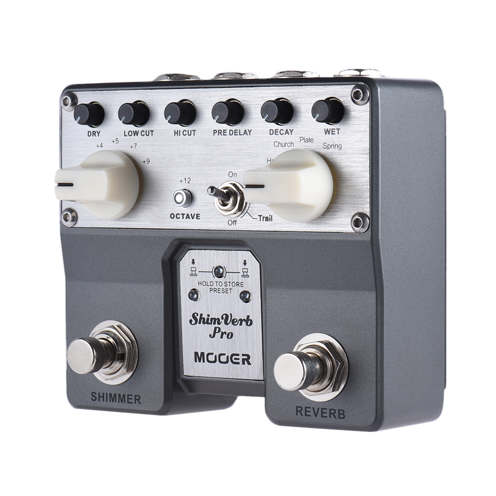 Mooer 5 Reverberation Modes Effects High Performance Floating-point DSP Chip ShimVerb Pro Digital Reverb Guitar Effect Pedal pro jewelry floating mini charms for floating locket