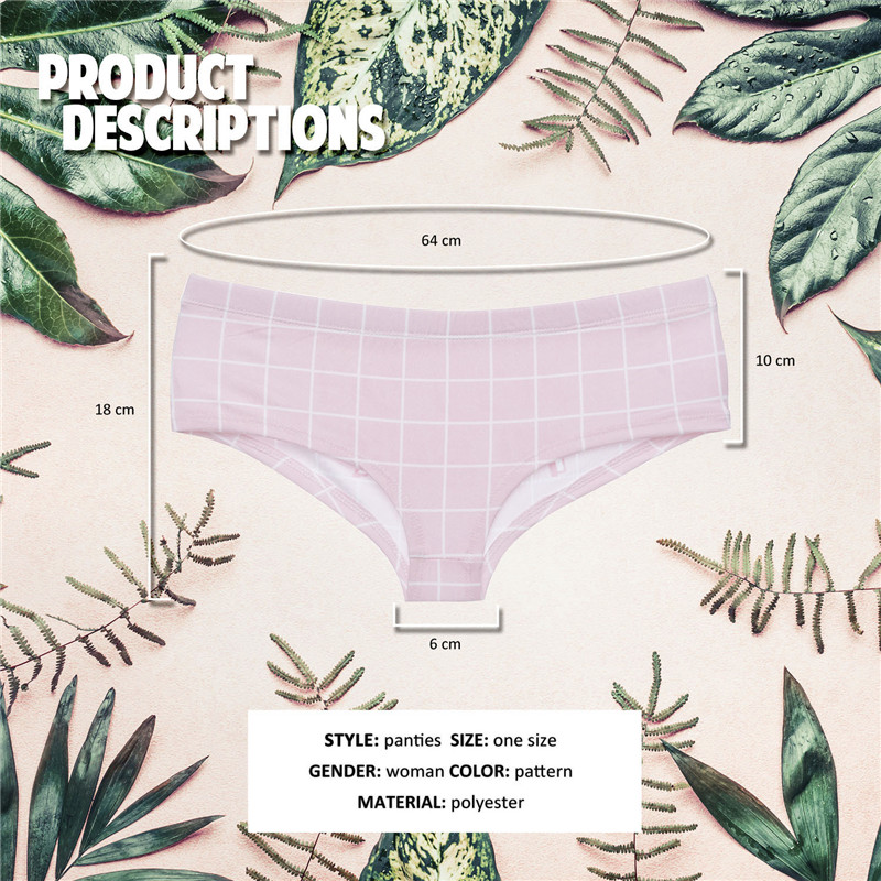 DeanFire kawaii women panties underwear on fleek letters funny print lovely push up briefs sexy lingerie thong in women 39 s panties from Underwear amp Sleepwears