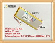 Bateria do Tablet 3263156 de Polímero Lítio para PC a Bateria do Tablet 3.7 V 4800 Mah 3263156 Bateria de Polímero Iões Lítio e bateria