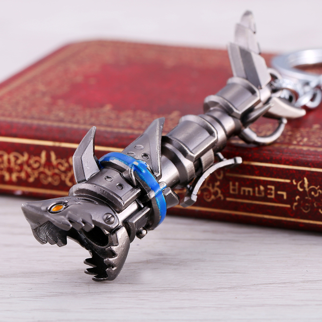 League of Legendes Jinx cannon LOL Keychain Metal Key Rings For Gift Key chain Jewelry for car YS11001