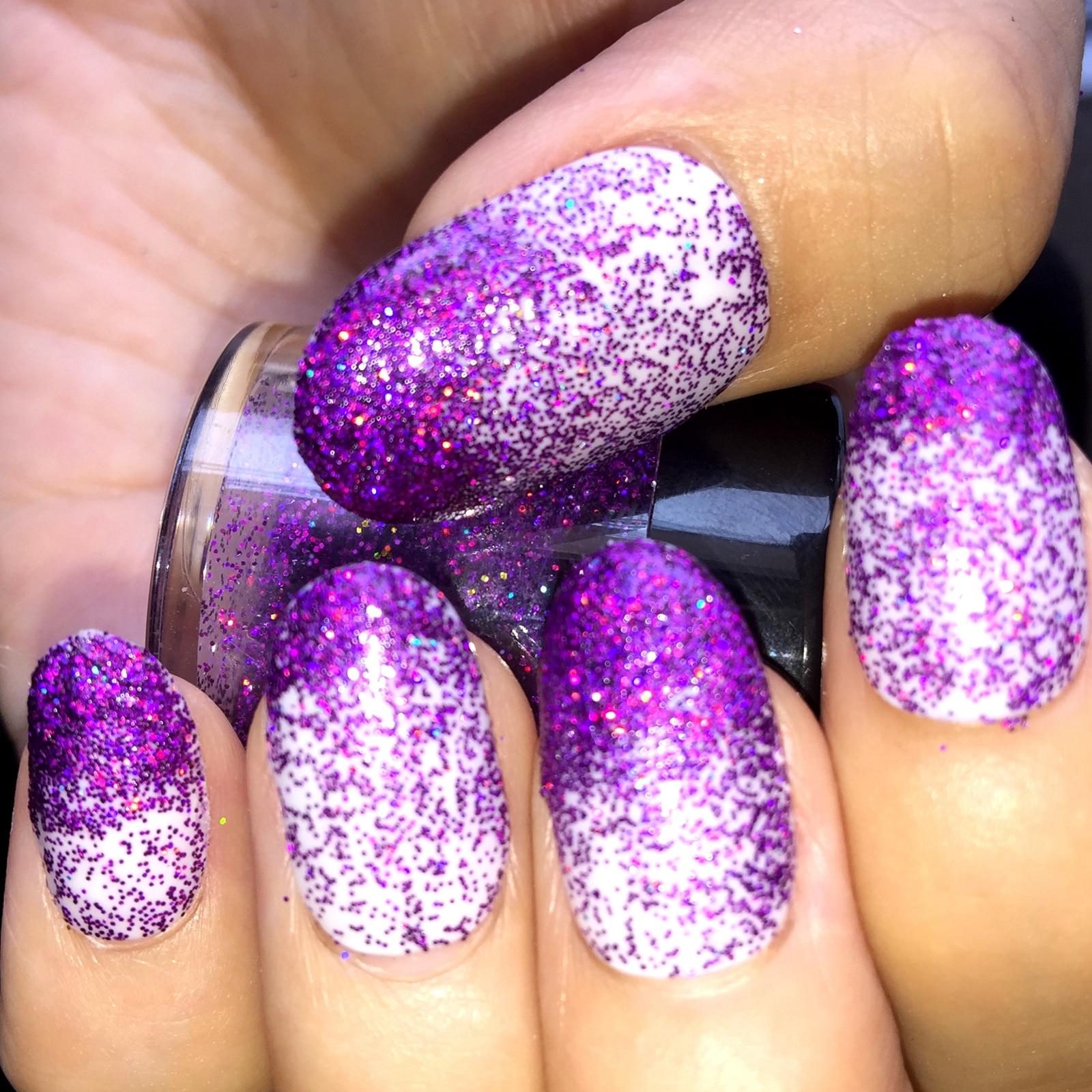 Aliexpress.com : Buy Fashion Glitter Powder Holographic Deep Purple ...
