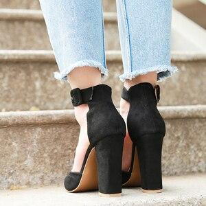 Image 3 - 2020 סקסי קלאסי גבוהה עקבים נשים של סנדלי קיץ נעלי גבירותיי רצועות משאבות פלטפורמת עקבים אישה קרסול רצועת נעליים
