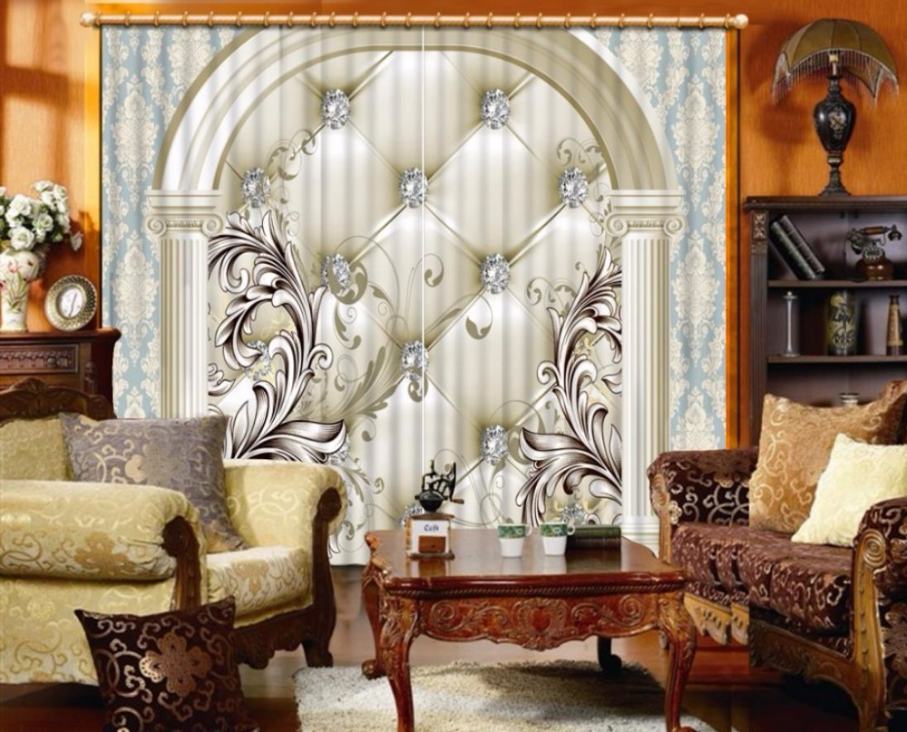 3d curtains field scenery european style living room or - European style curtains for living room ...