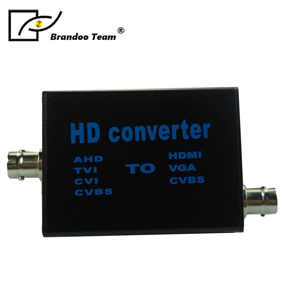 /AHD/TVI/CVI/CVBS к HDMI/VGA/CVBS адаптер конвертер, определение PAL/NSTC, бесплатная доставка