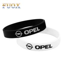 цена на 2pcs Rubber Wristbandfor For Opel Astra H G Corsa Insignia Astra Antara Meriva Zafira Car Styling Men Women Wrist Bands Bangles