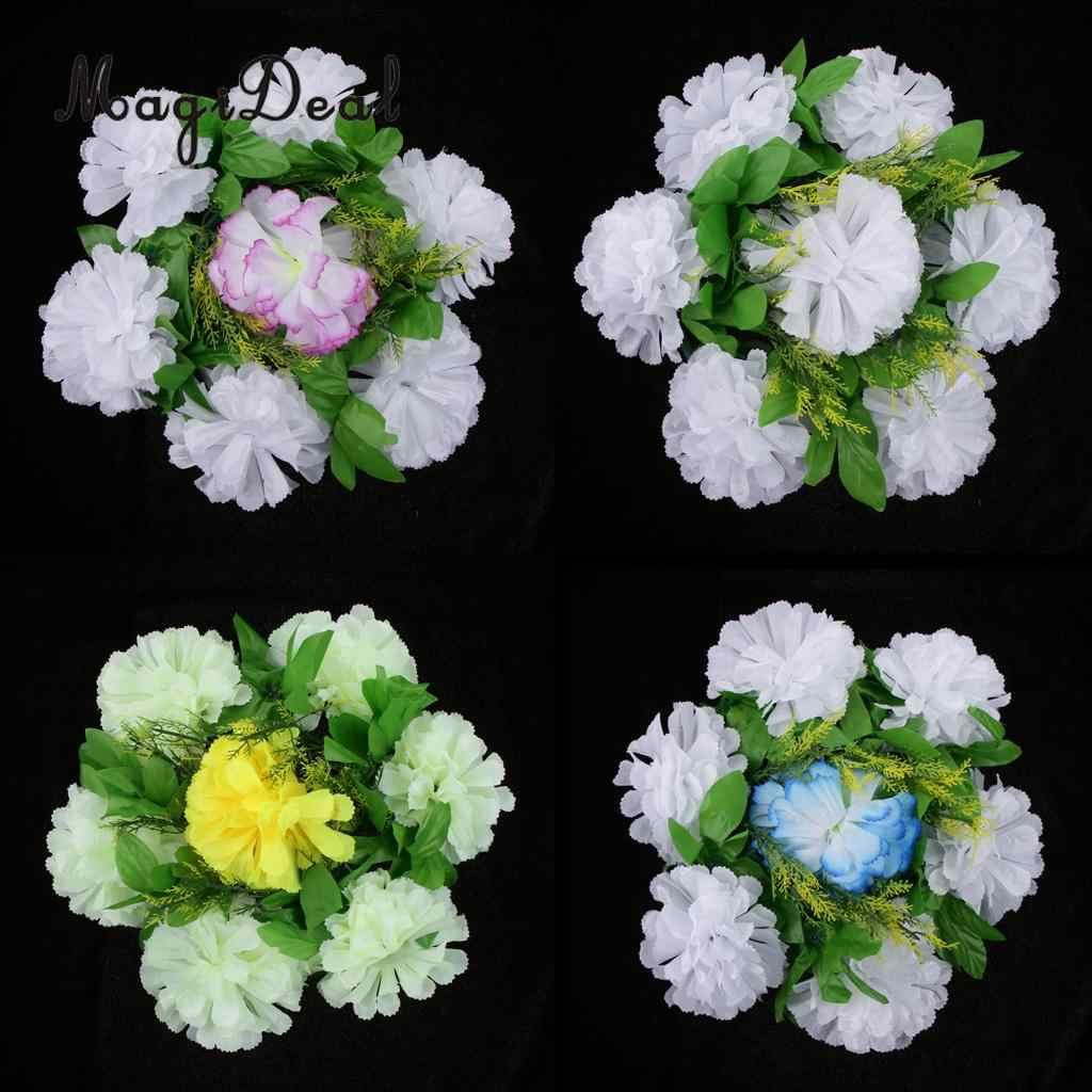 Magideal Chrysanthemum Silk Flower Funeral Memorial Grave Tribute Wreath Flower Arrangement Party Diy Decorations Aliexpress