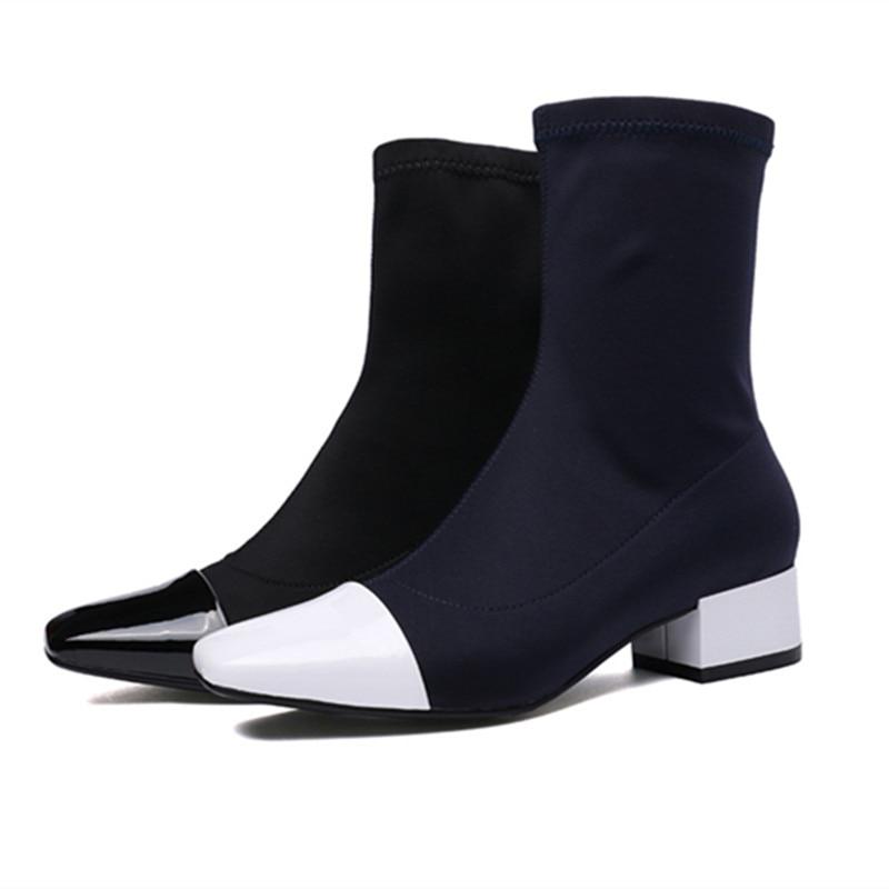 Sapatos de trabalho pesado, saltos baixos, profissional de moda, casual dating - 2