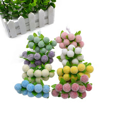 10Pcs/lot Artificial Glass Berries Fruit Red Cherry Plastic Fruits For Home Wedding Dekoration Fake Strawberry Mulberry Flower
