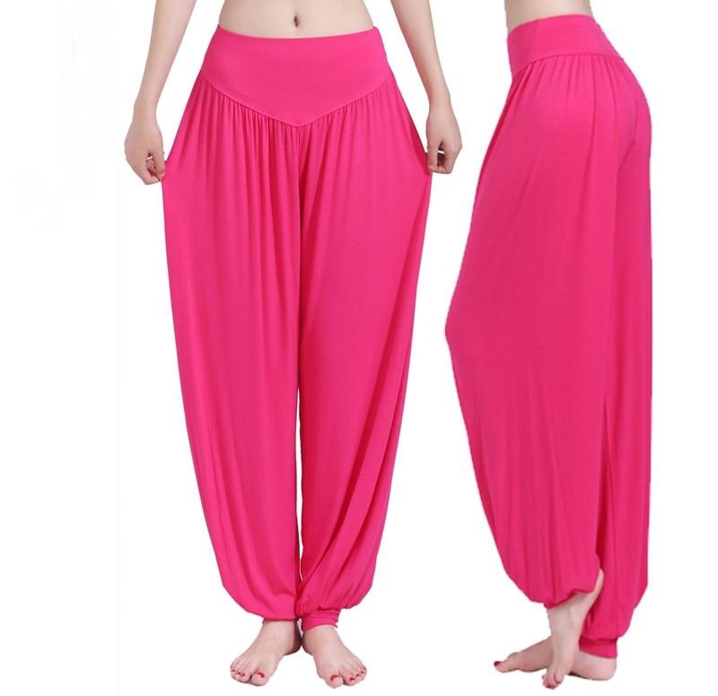 @1  Женские штаны для йоги Свободные эластичные шаровары Танцевальные фитнес-брюки с широкими штанинами  ✔