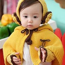 Коллекция года, зимний костюм для новорожденных брендовые Детские шапки для мальчиков и девочек, шарф+ шапка+ перчатки, 3 предмета, детский плащ