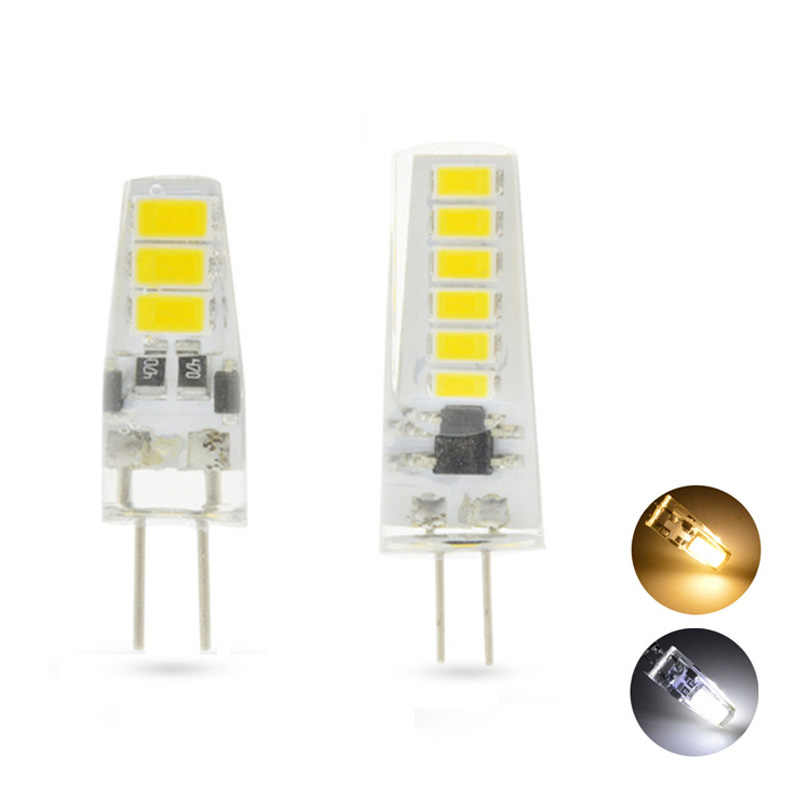 G4 LED Diode Bulb DC 12V Flicker-Free 5730 SMD 6 /12LEDs G4 Chandelier Lamp High Brightness 360 Beam Angle Home Indoor Lighting
