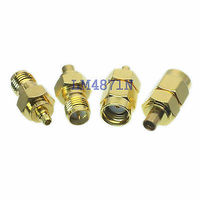 Kit Adapter 4pcs Set MMCX To RP SMA Type Male Female RF Connector Test Converter