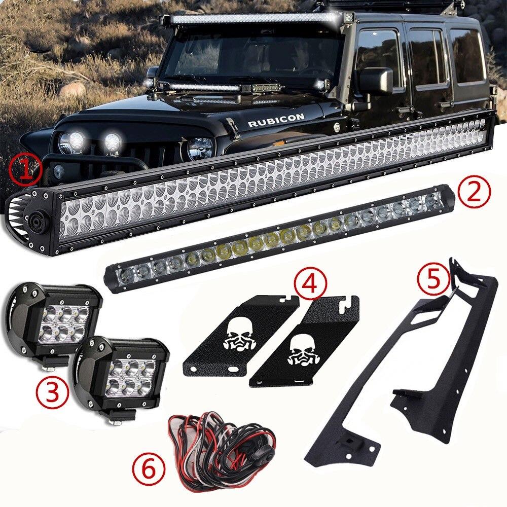 LED Passenger side WITH install kit 2007 Hummer H1 MILITARY Post mount spotlight -Black 6 inch