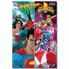 1741A Power Rangers Justice League DC Superheroes Wall Sticker Silk Poster  Light Canvas Decoration Part 97