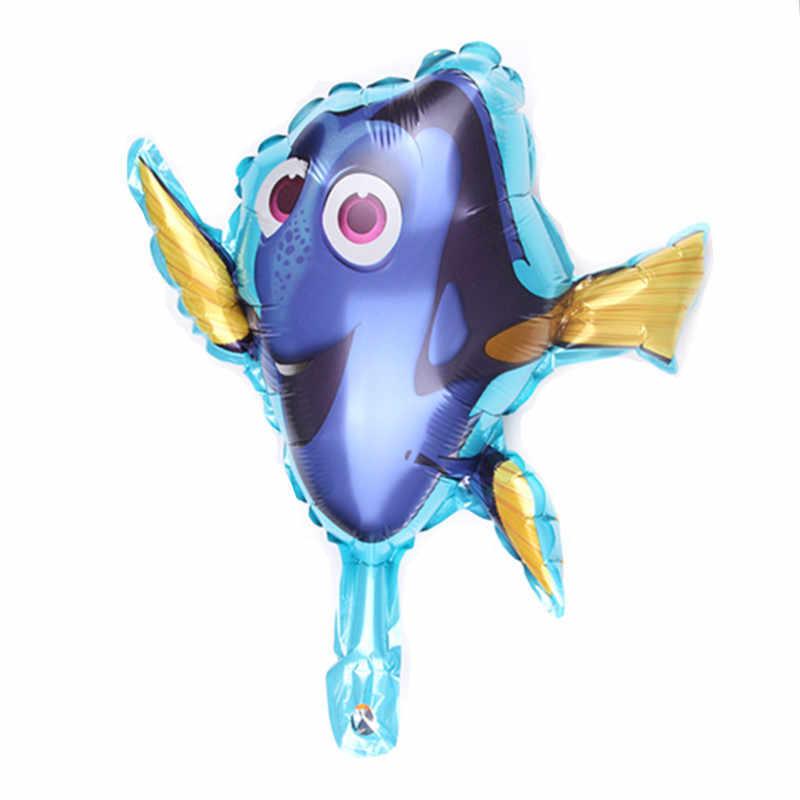 1PC mini 34*30cm Small fish balloon Aluminum foil animal balloons birthday party decorations kids toy globos