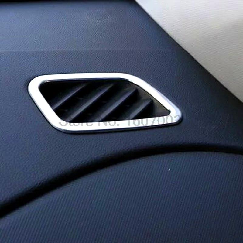 For Hyundai Creta IX25 2014 2015 2016 2pcs Matte Chrome Car Interior Air Condition A/C Vent Outlet Molding Trim Cover Accessorie