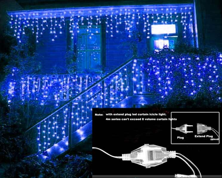 led christmas lights decoration 2m droop 06m curtain icicle string led lights 220v eu led window light waterfall wedding party - Waterfall Christmas Lights