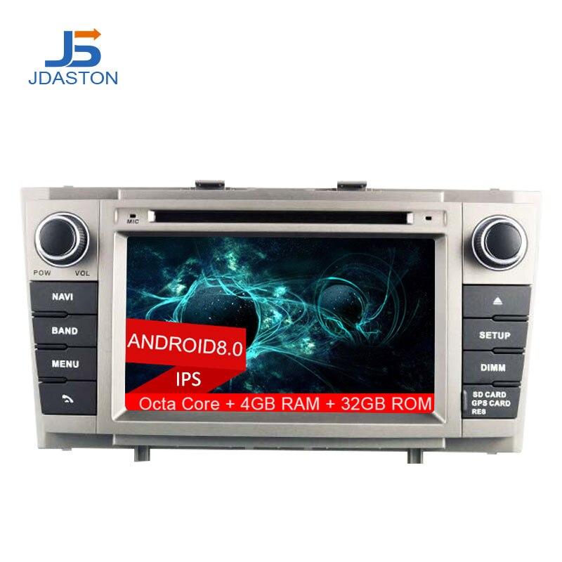 JDASTON 2DIN Android 8.0 Lecteur DVD de Voiture Pour Toyota Avensis 2009-2014 Octa Cores T27 4g + 32g De Voiture Radio Multimédia GPS Audio Canbus