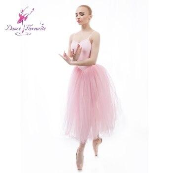 Modern Leotard Sleeveless Sequins Ballet Dance Dress for Girls Lyrical Dance Dress Skating Performance Costumes 5 Layers B-6466