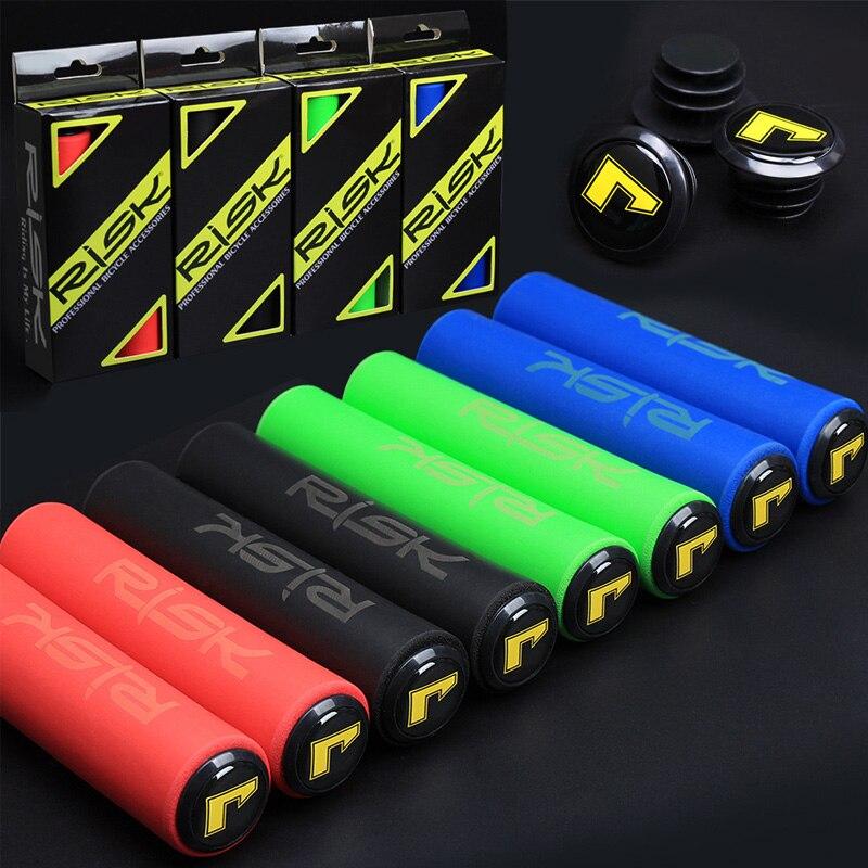 1 пара велосипедные силикагелевые ручки для горного велосипеда ультра-легкие противоскользящие мягкие Съемные пластиковые торцевые заглу...