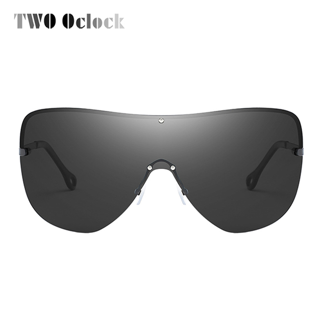 0a0f6f5564 TWO Oclock Oversized HD Polarized Shield Sunglasses Men Women Designer  Intergrated Eyewear UV400 Sun Glasses Big Goggles R66154