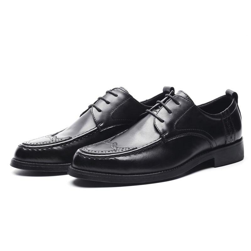 DXKZMCM Genuine Leather Men Oxford Shoes, Lace Up Casual Business Men Shoes, Brand Men Wedding Shoes, Men Dress Shoes