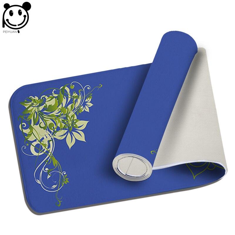 PEIYUAN Welcome font b Indoor b font Doormat Print Green Flowers Yoga Mat Door Mat Floor