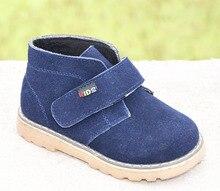 2017 nuevos niños botas de ante botas de tobillo zapatos de cuero genuino otoño calzado para niños chaussure zapato menino niños zapatos