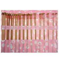 Single Pointed Carbonized Bamboo Knitting Needles 36pcs In 1 Set FG