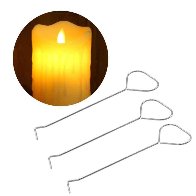 17,8 cm de acero inoxidable apagar vela mecha Dipper gancho plata lámpara de aceite Snuffers recortadora tijera herramienta de mano larga manejar