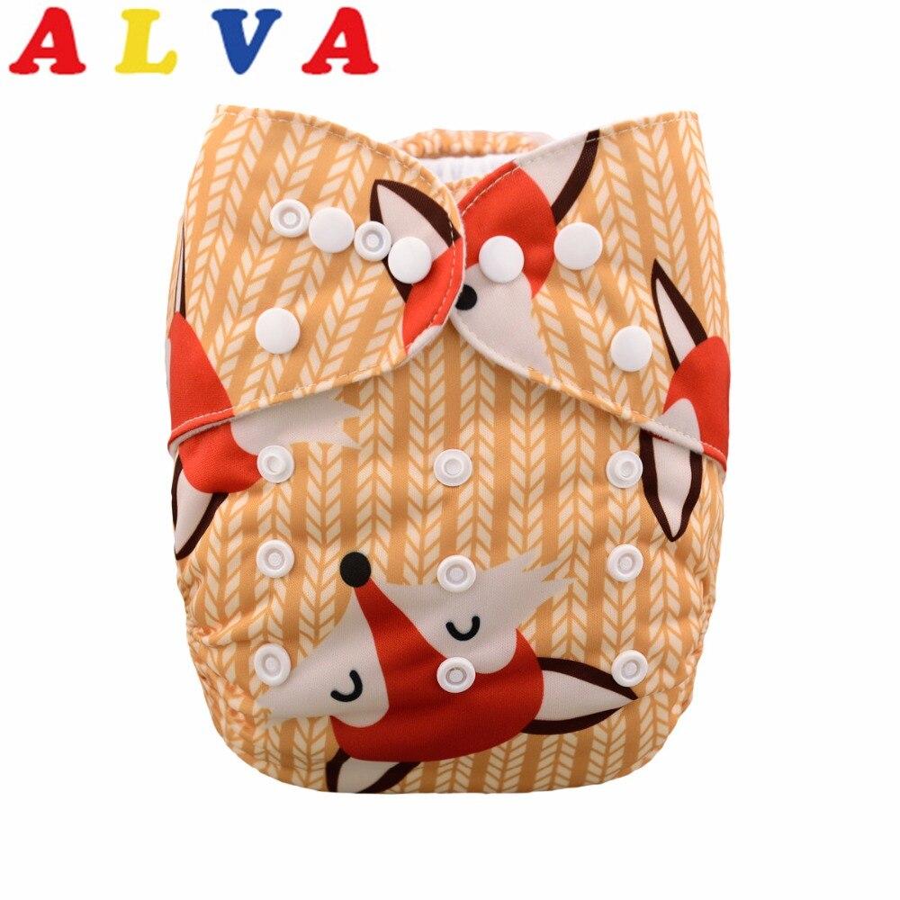 20pcs per Lot 2019 Alva Baby One Size Fits All Pocket Cloth Diaper with Microfiber