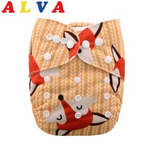 (20pcs per Lot) 2020 ALVABABY One Size Fits All Pocket Cloth Diaper with Microfiber Insert
